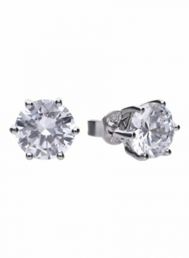 Diamonfire Claw Set 4.00ct Solitaire Stud Earrings