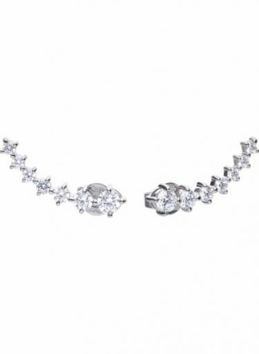 Diamonfire Claw Set Elongated Stud Earrings