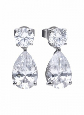Diamonfire Claw Set Pear Drop Earrings