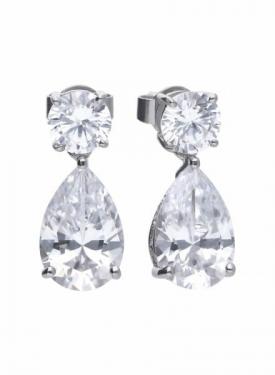 Diamonfire Claw Set Pear Drop Earrings