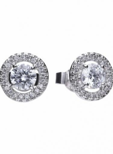 Diamonfire Cluster Stud Earrings