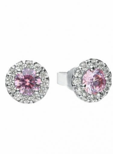 Diamonfire Dusky Pink Cluster Stud Earrings