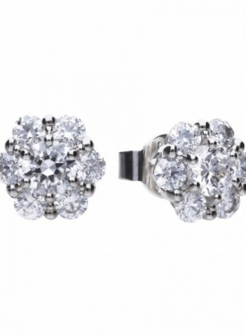 Diamonfire Floral Shape Stud Earrings