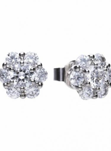 Diamonfire Floral Shape Stud Earrings