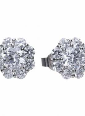 Diamonfire Cluster Stud Earrings