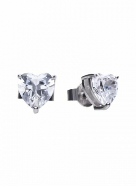 Diamonfire Heart Stud Earrings