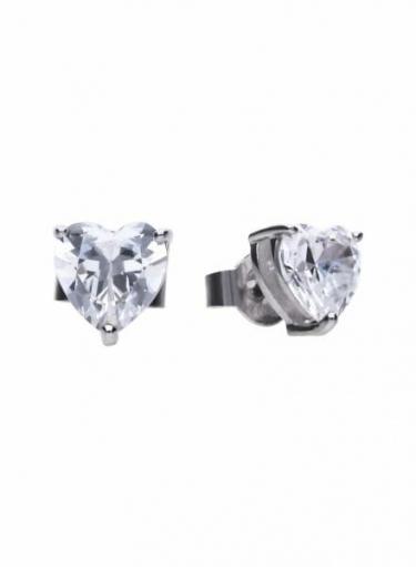 Diamonfire Heart Stud Earrings