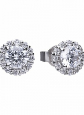 Diamonfire Round Cluster Earrings