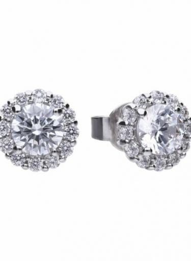 Diamonfire Round Cluster Earrings
