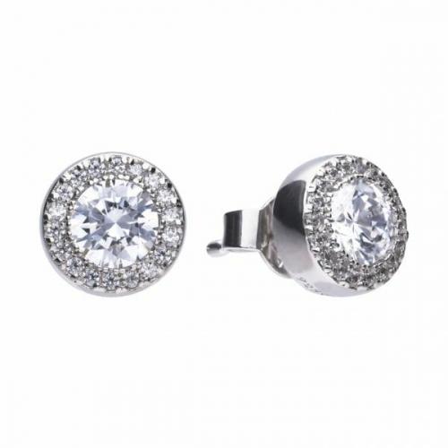 Diamonfire Round Halo Stud Earrings