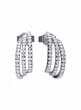 Diamonfire Trio Creole Earrings