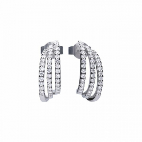 Diamonfire Trio Creole Earrings