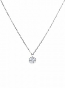 Diamonfire Round Cluster Necklace