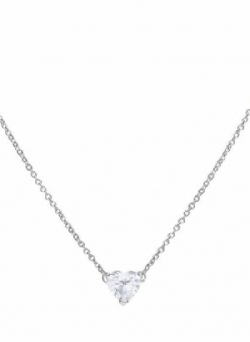 Diamonfire Solitaire Heart Necklace