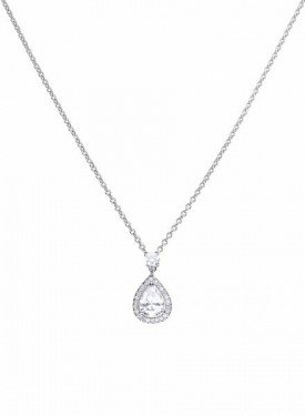 Diamonfire Teardrop Cluster Necklace
