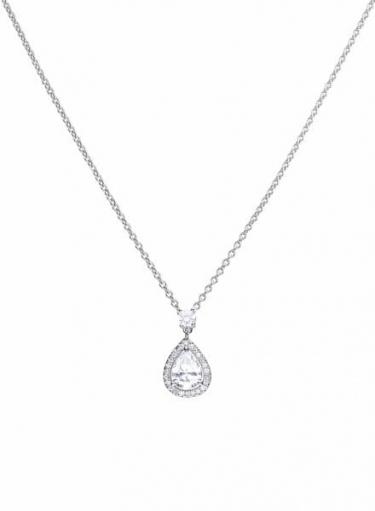 Diamonfire Teardrop Cluster Necklace