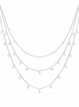 Diamonfire Triple Row Drop Necklace