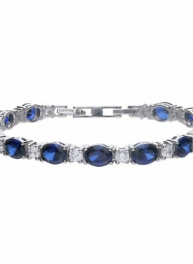 Diamonfire Sapphire Blue Colour Tennis Bracelet