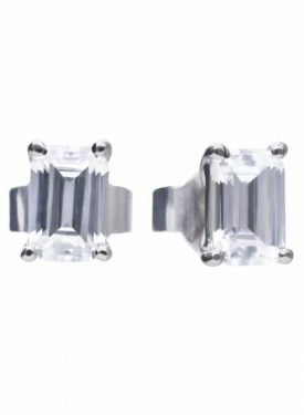 Diamonfire Emerald Cut Stud Earrings
