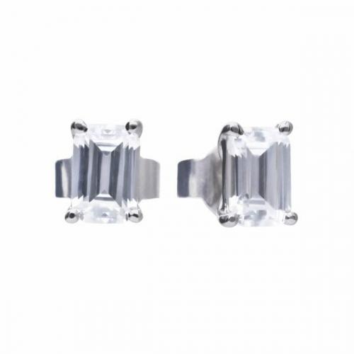 Diamonfire Emerald Cut Stud Earrings