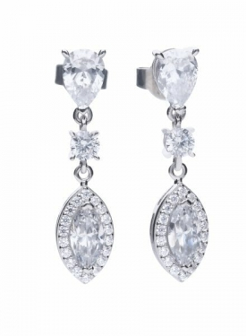Diamonfire Marquise Cluster Drop Earrings