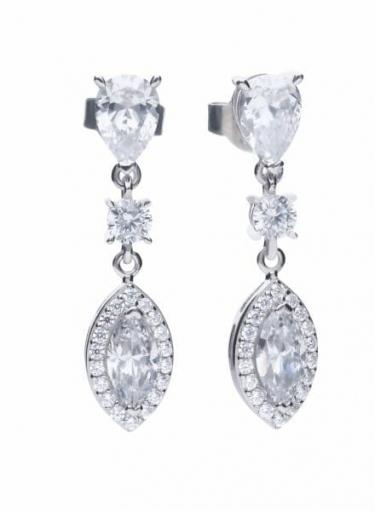 Diamonfire Marquise Cluster Drop Earrings