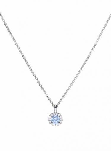 Diamonfire Sky Blue Cluster Necklace
