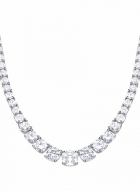 Diamonfire Graduated Tennis Necklace