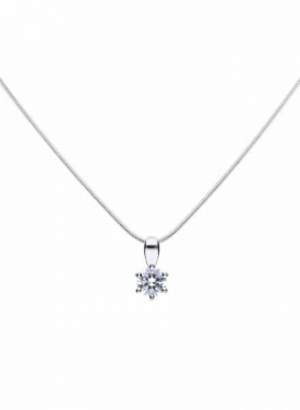 Diamonfire Claw Set 0.50ct Solitaire Necklace
