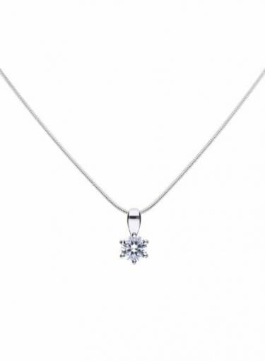Diamonfire Claw Set 0.50ct Solitaire Necklace