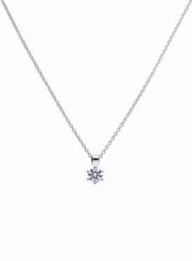 Diamonfire Claw Set 0.75ct Solitaire Necklace