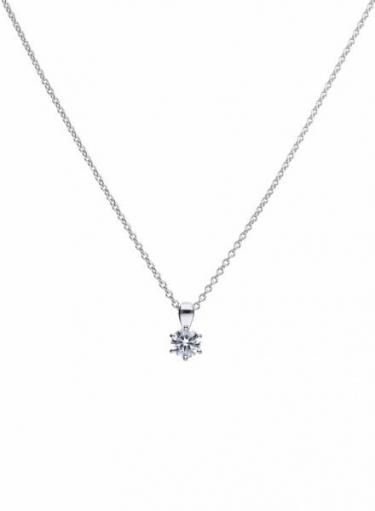 Diamonfire Claw Set 0.75ct Solitaire Necklace