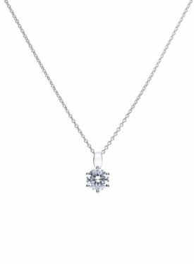 Diamonfire Claw Set 1.50ct Solitaire Necklace