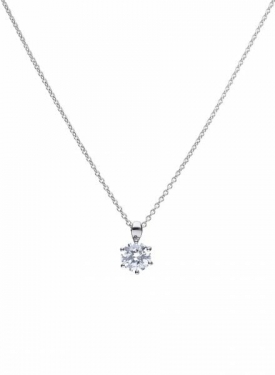 Diamonfire Claw Set 2.00ct Solitaire Necklace