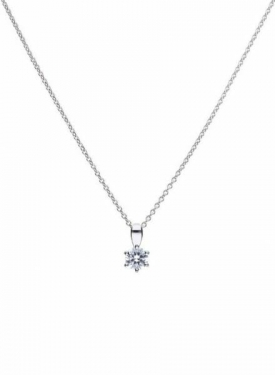 Diamonfire Claw Set 0.25ct Solitaire Necklace