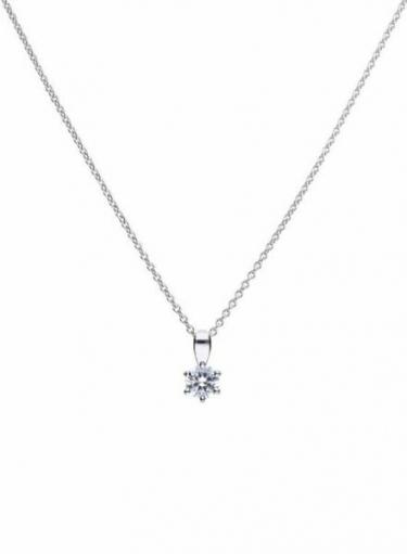 Diamonfire Claw Set 0.25ct Solitaire Necklace