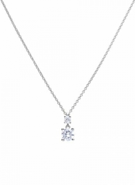Diamonfire Claw Set Double 1.00ct Drop Pendant