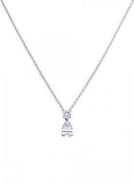 Diamonfire Claw Set Pear Drop Necklace