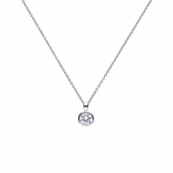 Diamonfire Bezel Set 1.00ct Solitaire PendantDiamonfire Bezel Set 1.00ct Solitaire Pendant