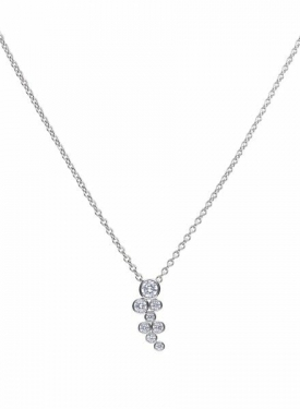 Diamonfire Bubble Rubover Set Drop Pendant