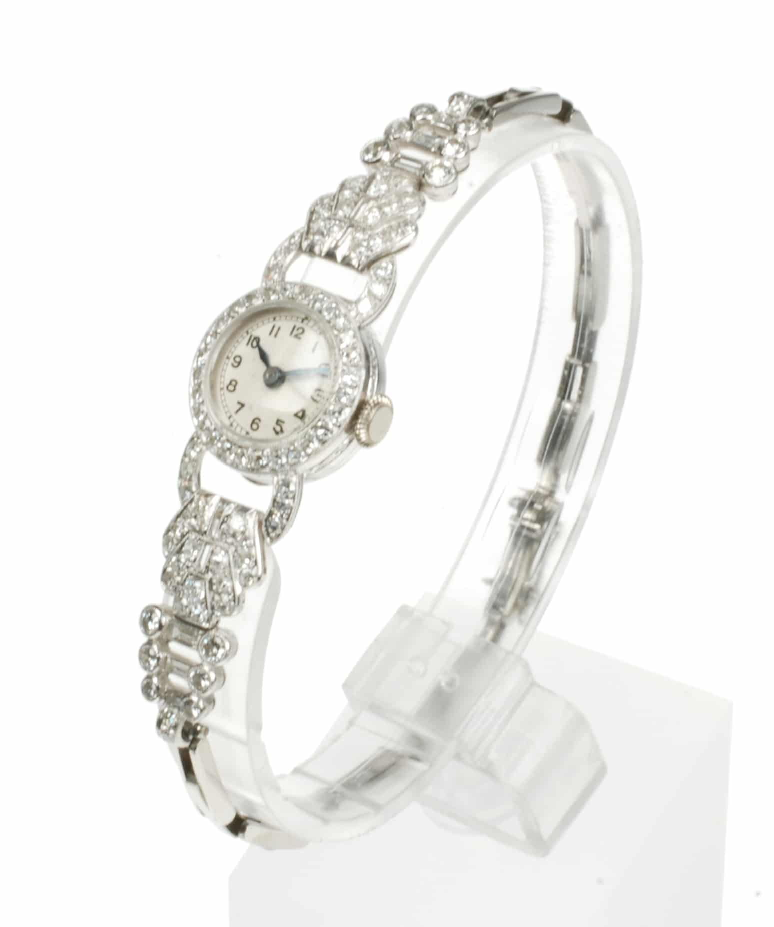 Diamond And Platinum Manual Cocktail Watch