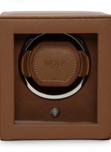 WOLF Cub Winder With Cover Cognac