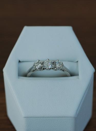 Platinum Trilogy Diamond Preowned Ring